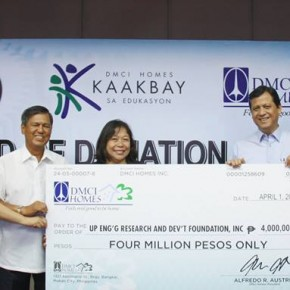 UP Engineering Buoyed by 4 Million worth of Teaching Grant from DMCI Homes